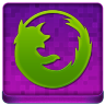 Pink Firefox Coloured Icon 96x96 png