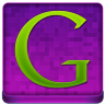 Pink Google Coloured Icon 96x96 png