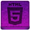 Pink HTML5 Icon 96x96 png