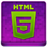 Pink HTML5 Coloured Icon 96x96 png