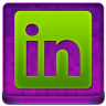 Pink Linked In Coloured Icon 96x96 png
