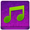 Pink Music Coloured Icon 96x96 png