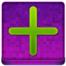 Pink Plus Coloured Icon 96x96 png