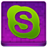 Pink Skype Coloured Icon 96x96 png