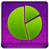Pink Statistics Round Coloured Icon 96x96 png