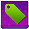 Pink Tag Coloured Icon 96x96 png