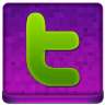 Pink Twitter Coloured Icon 96x96 png