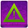 Pink Warning Coloured Icon 96x96 png