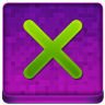 Pink X Coloured Icon 96x96 png