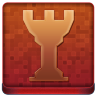 Red Chess Tower Coloured Icon 96x96 png