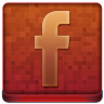 Red Facebook Coloured Icon 96x96 png