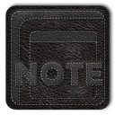Notes Black Icon