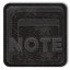 Notes Black Icon 64x64 png