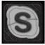 Skype White Icon 64x64 png