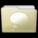 Beige Folder Chats Icon