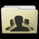 Beige Folder Group Icon