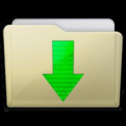 Beige Folder Downloads Icon 256x256 png
