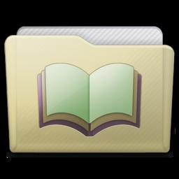 Beige Folder Library Alt Icon 256x256 png