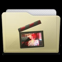 Beige Folder Movies Alt Icon 256x256 png
