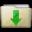Beige Folder Downloads Icon 32x32 png