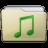 Beige Folder Music Icon 48x48 png