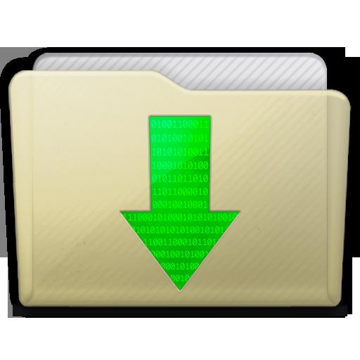 Beige Folder Downloads Icon 512x512 png