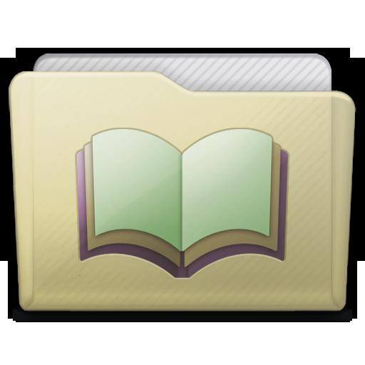 Beige Folder Library Alt Icon 512x512 png