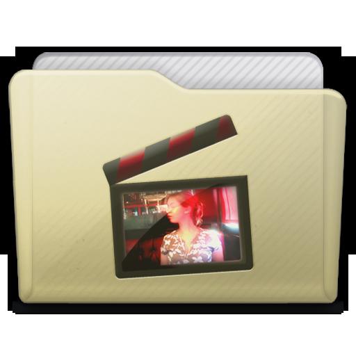 Beige Folder Movies Alt Icon 512x512 png
