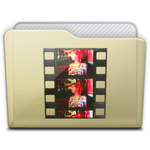 Beige Folder Movies Icon 512x512 png