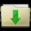 Beige Folder Downloads Icon 64x64 png