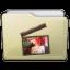 Beige Folder Movies Alt Icon 64x64 png