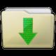 Beige Folder Downloads Icon 80x80 png