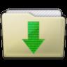 Beige Folder Downloads Icon 96x96 png