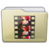 Beige Folder Movies Icon 96x96 png
