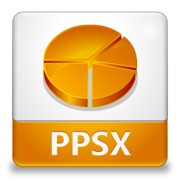 PPSX File Icon 256x256 png