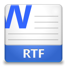 RTF File Icon 256x256 png