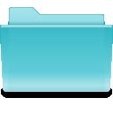 Filesystems Folder Cyan Icon
