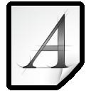 Mimetypes Application X Font AFM Icon