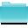 Filesystems Folder Cyan Icon 32x32 png