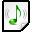 Mimetypes Audio Basic Icon 32x32 png