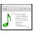 Actions View Media Lyrics Icon 48x48 png