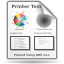 Actions KDEPrint Test Printer Icon 64x64 png