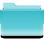 Filesystems Folder Cyan Icon 64x64 png