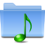 Filesystems Folder Sound Icon 64x64 png