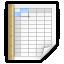 Mimetypes Spreadsheet Icon 64x64 png