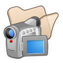 Folder Beige Videos Icon