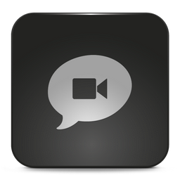 App Chat Icon Snow Black Icons Softicons Com