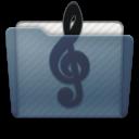 Graphite Folder Music Alt Icon