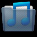 Graphite Folder Music Blue Icon