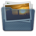 Graphite Folder Pictures Icon